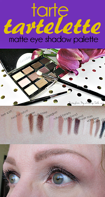 tarte tartelette amazonian clay matte eye shadow palette collage for pinterest notes from my dressing table