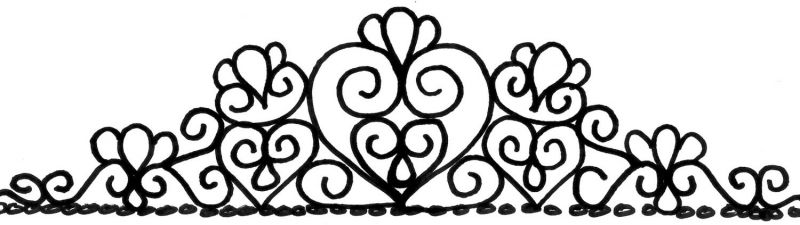 pattern of a Tiara. ( I hand drew mine but here's a pattern i based ...