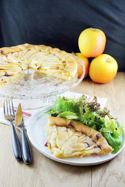 Tarte pommes salée