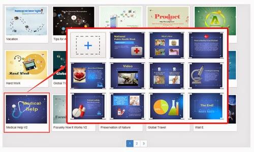 online publishing solution, Presentation templates
