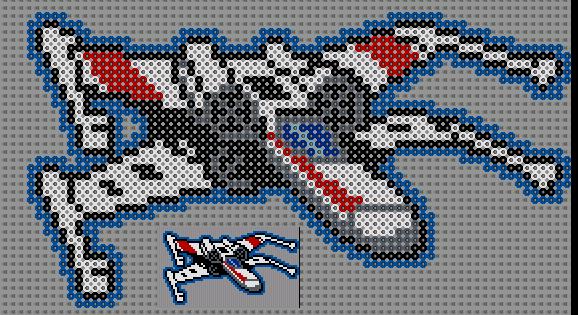 pixel art en perle hama