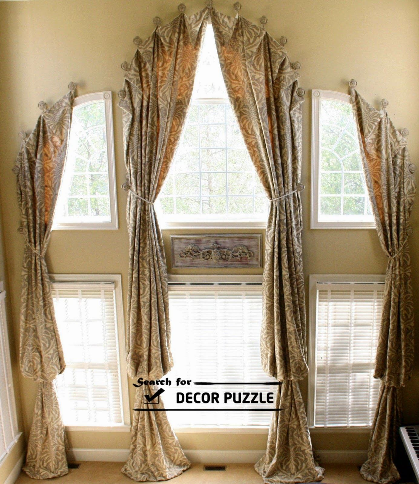 French window curtains, french blinds