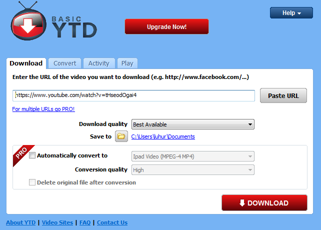 Download Video Youtube Menggunakan YouTube Downloader
