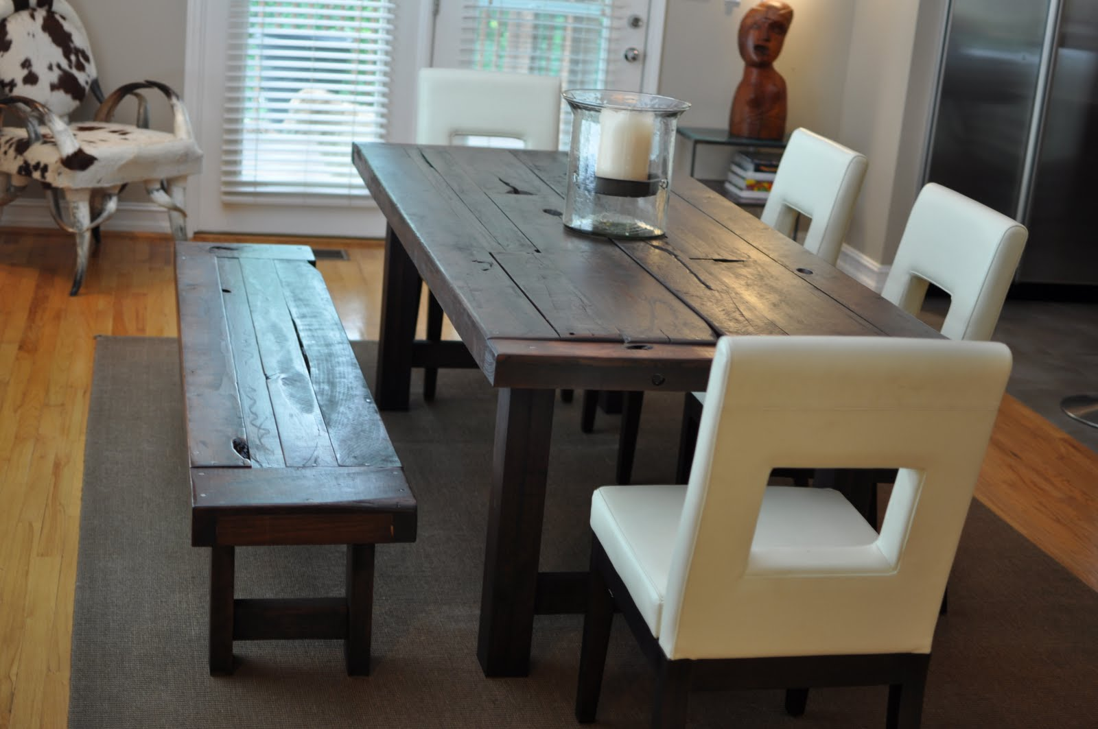The Clayton Dining Table Atlanta Georgia Rustic Trades Furniture - Distressed dark wood dining table