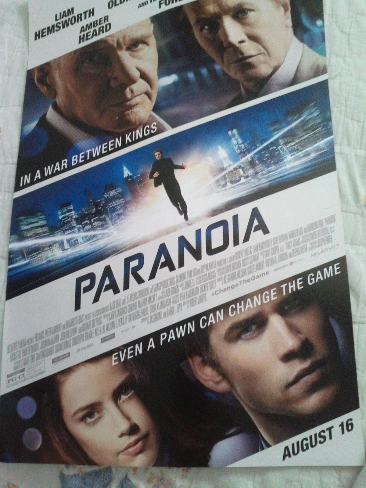jennifer lawrence fansite paranoia film poster giveaway