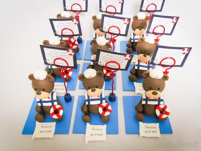 Ursinhos Marinheiros Biscuit Lembrancinha