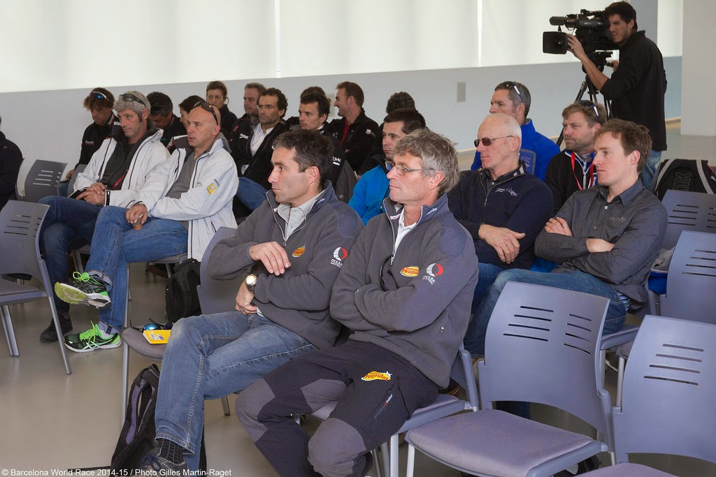 Briefing de la Barcelona World Race.