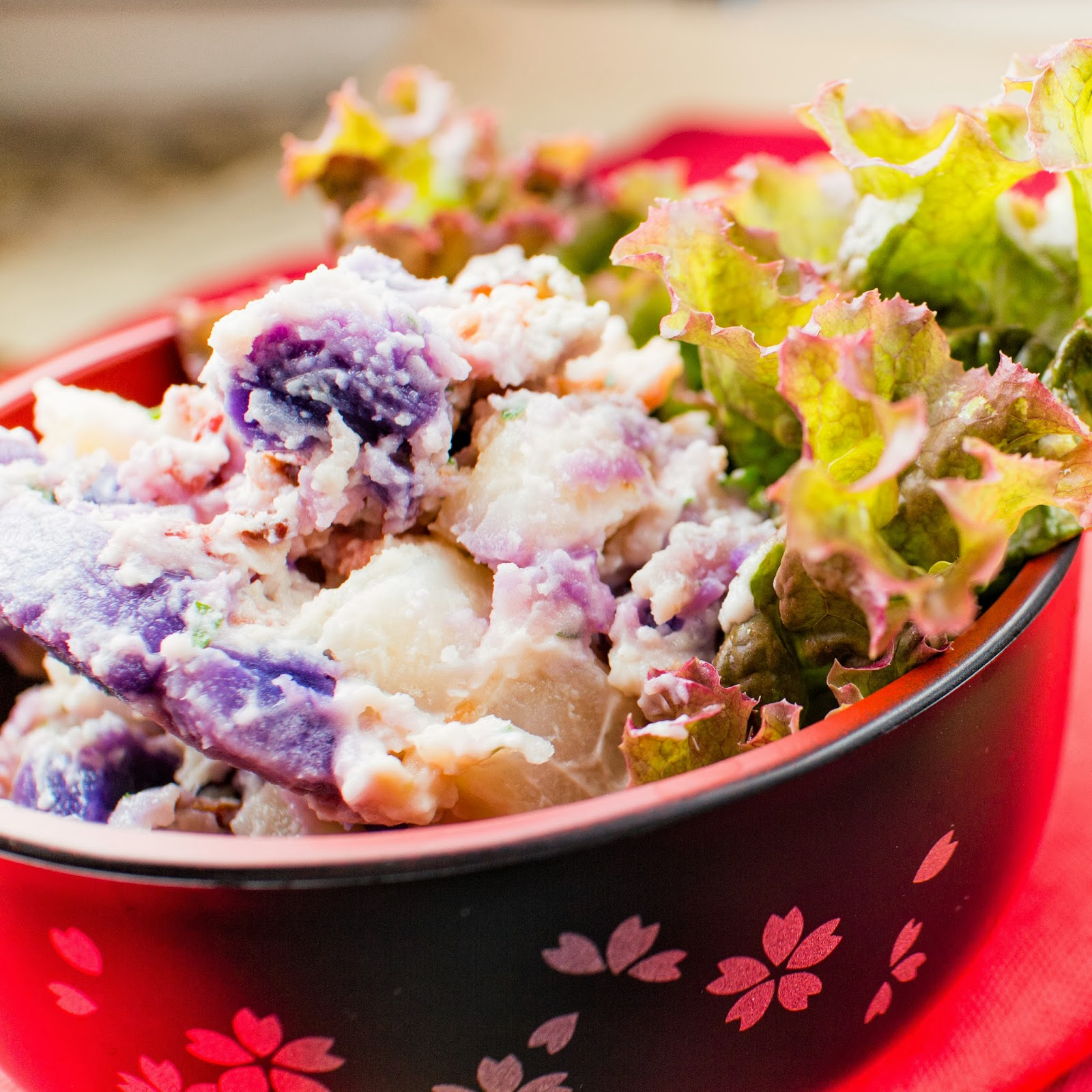 kruizing with kikukat: Pastel Purple Potato Salad