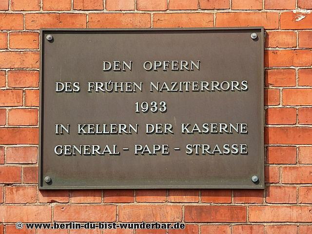 SA-Gefängnis, Berlin, Gedenksort, konzentrationslager, kz, papestrasse, SA, Feldpolizei, gebaude, Sudkreuz, Tempelhof-Schoneberg