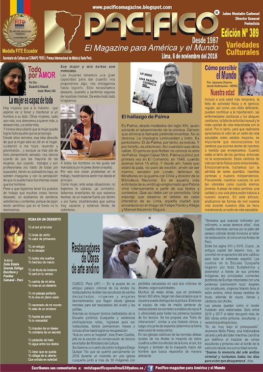 Revista Pacifico N° 389 Variedades Culturales