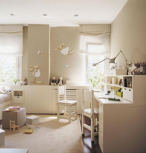habitacion infantil color topo
