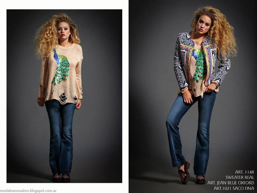 Moda jeans oxford otoño invierno 2015 Sophya
