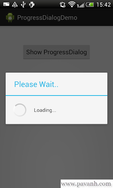 Android Spinning Progress Dialog