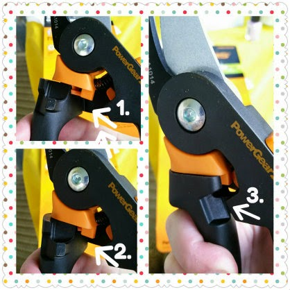 Fiskars PowerGear2 pruners rolling grip collage 2