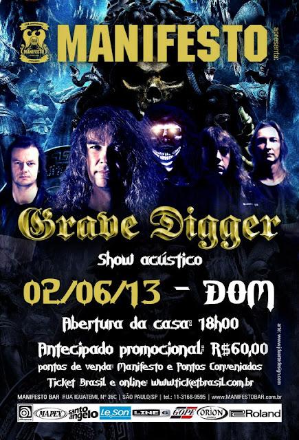 A banda alemã Grave Digger apresenta show acústico dia 2/6 em S. Paulo