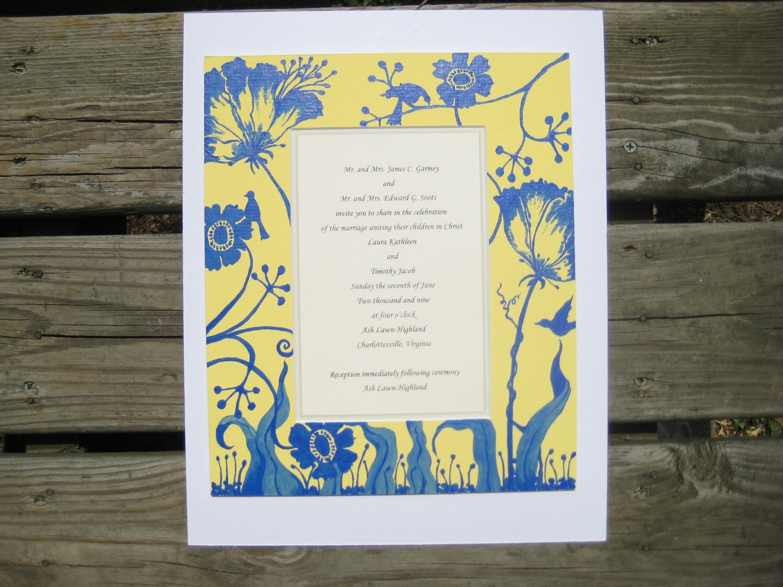 Painted Wedding Invitations for awesome invitation sample