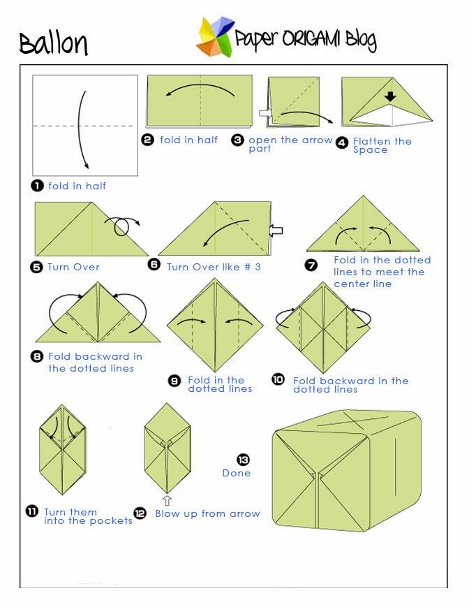 Origami Balloon Diagram Balloon Origami