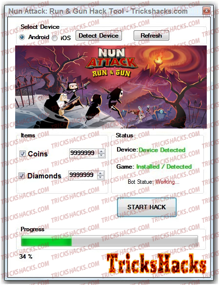 Nun Attack: Run & Gun Hack Tool Screenshot