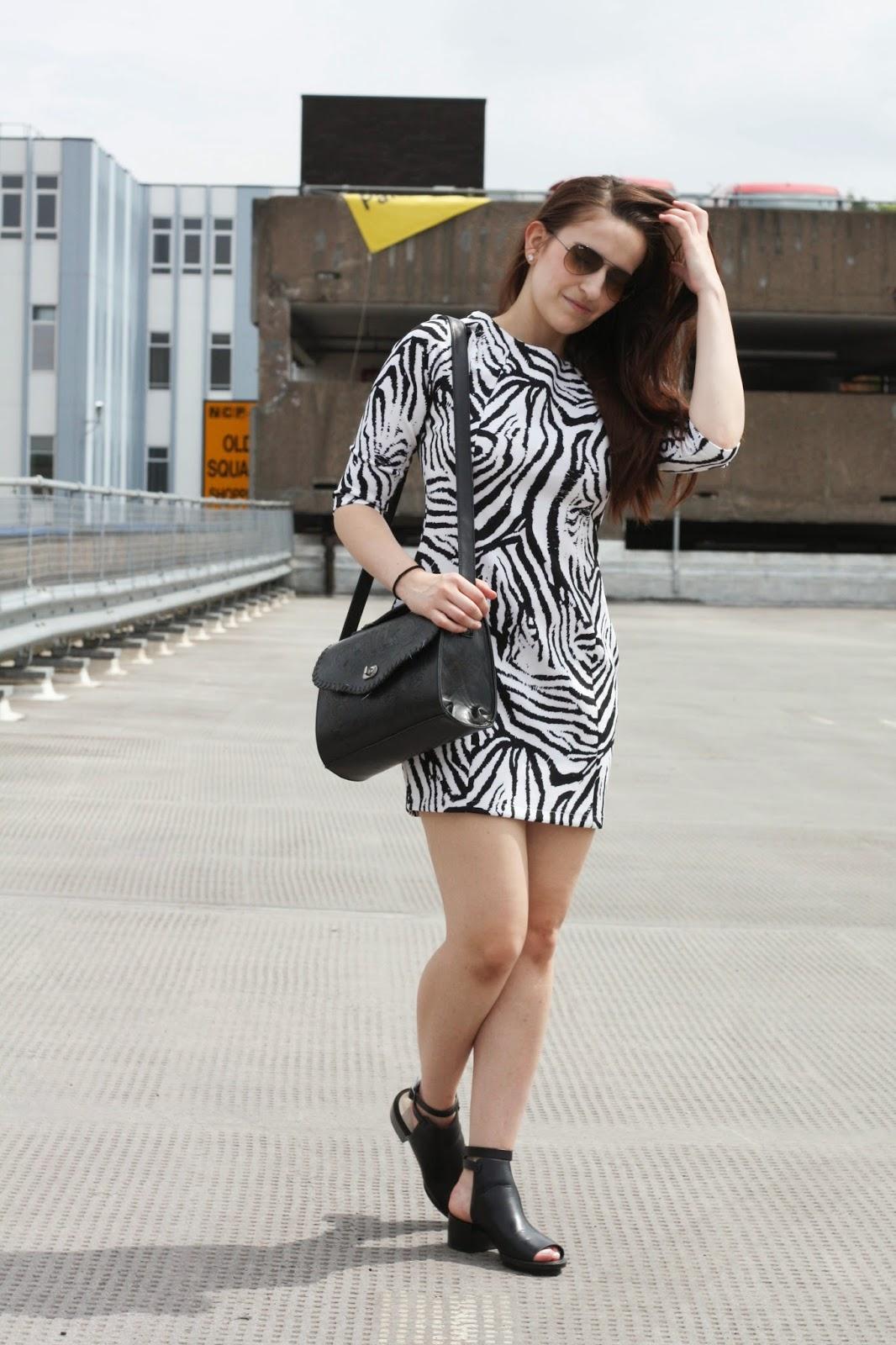 Zara zebra dress