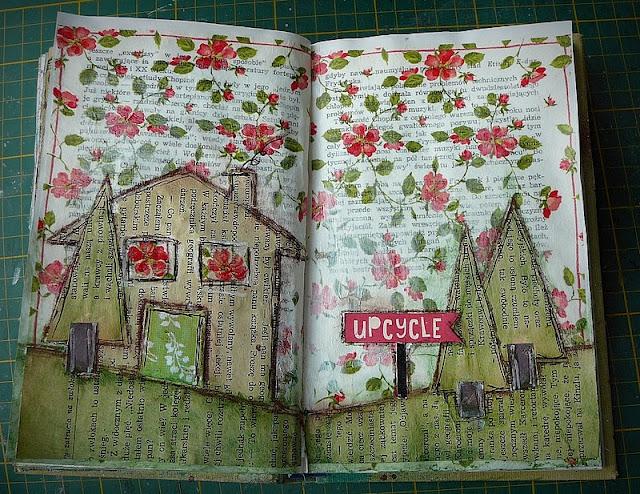 art journal - domek czerwcowy