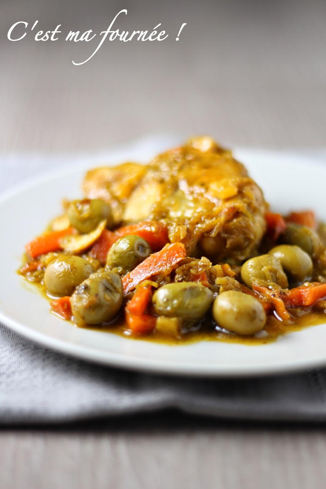 Mon poulet aux olives