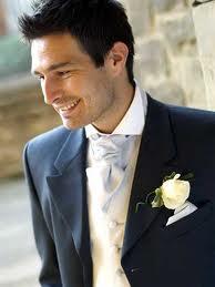 dark blue wedding suit