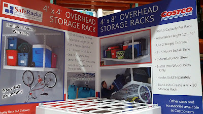 Saferacks Storage Kit Steel Overhead Garage Rack creates more storage space