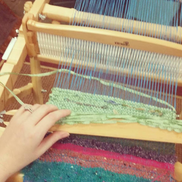 weaving class Lowe Mill Huntsville