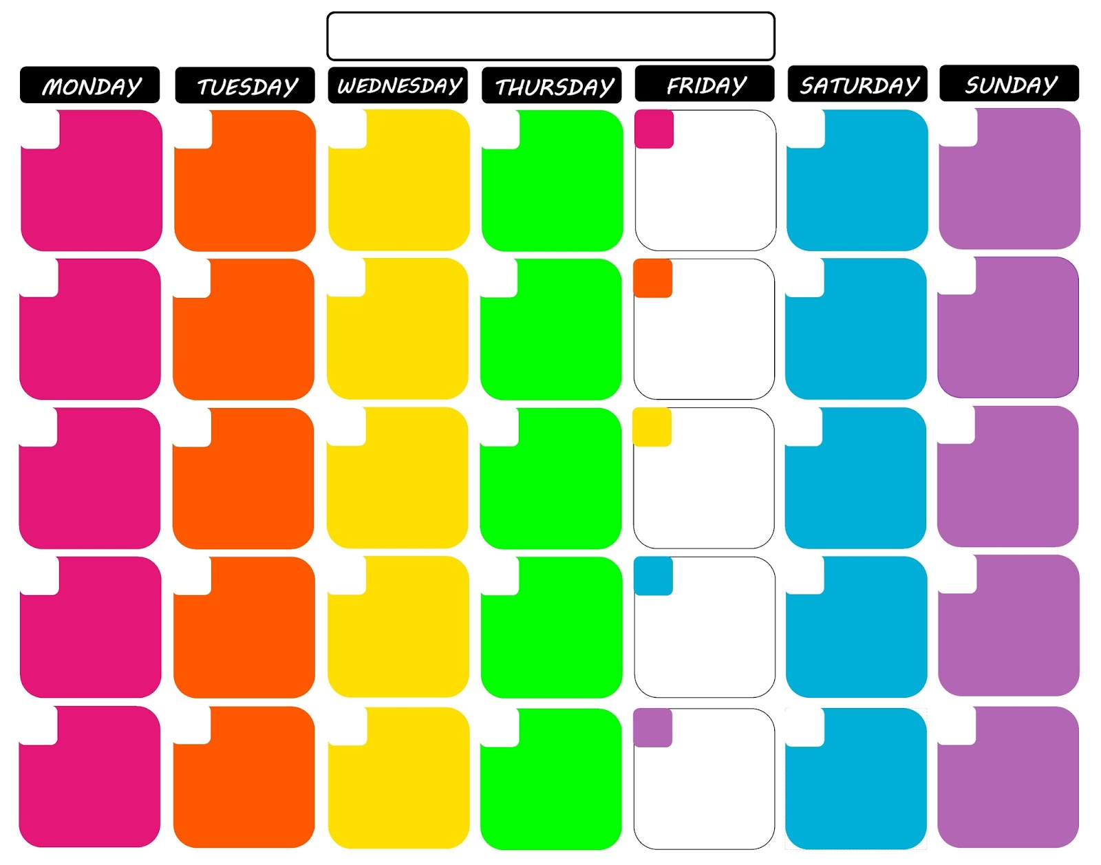 Blank Calendar Colorful : Koolbeenz my free printable calendar quot x tropical