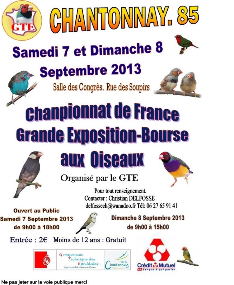 Affiche présentant la date du GTE
