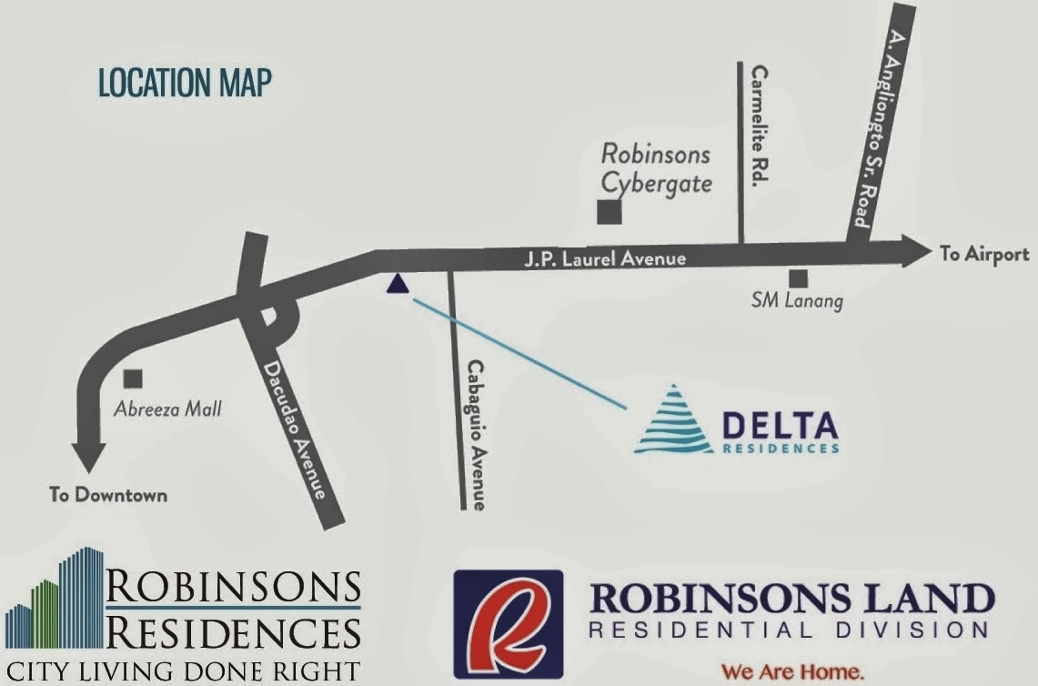 Delta Residences Davao - Location Map