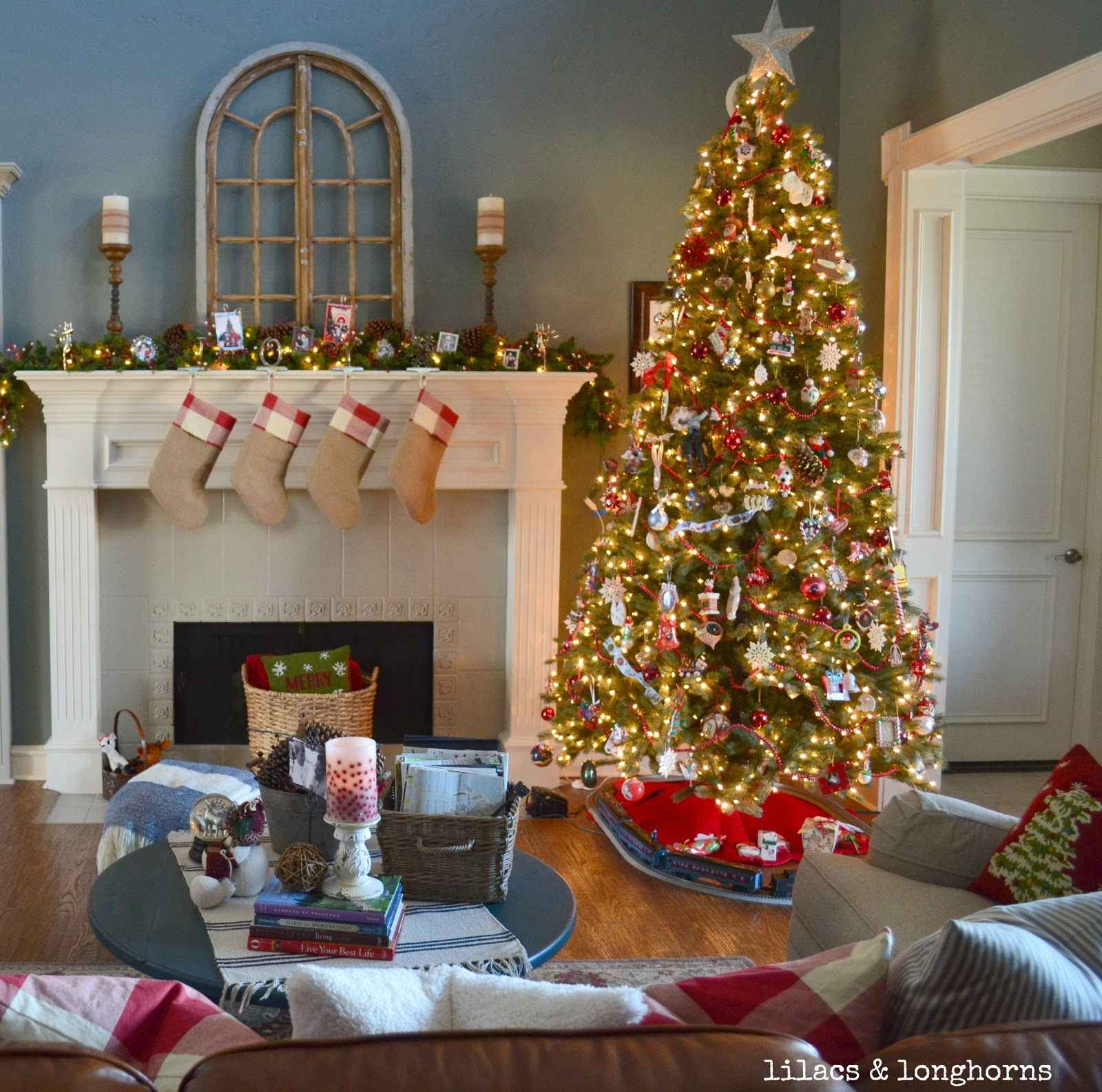 Christmas Tree In Family Room