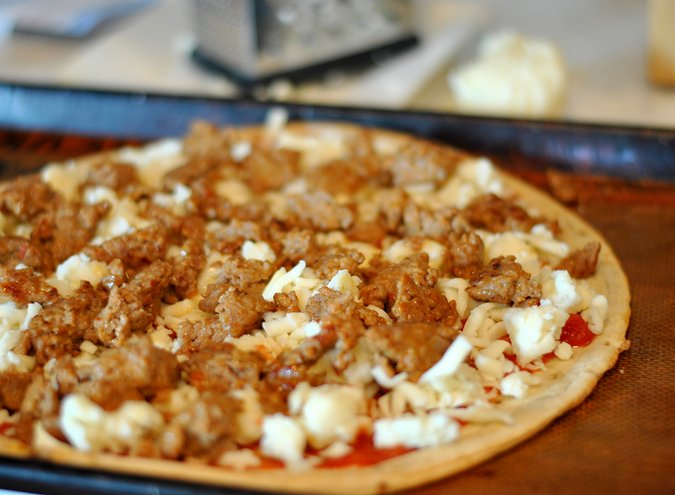 Turkey Sausage and Pepper Pizza