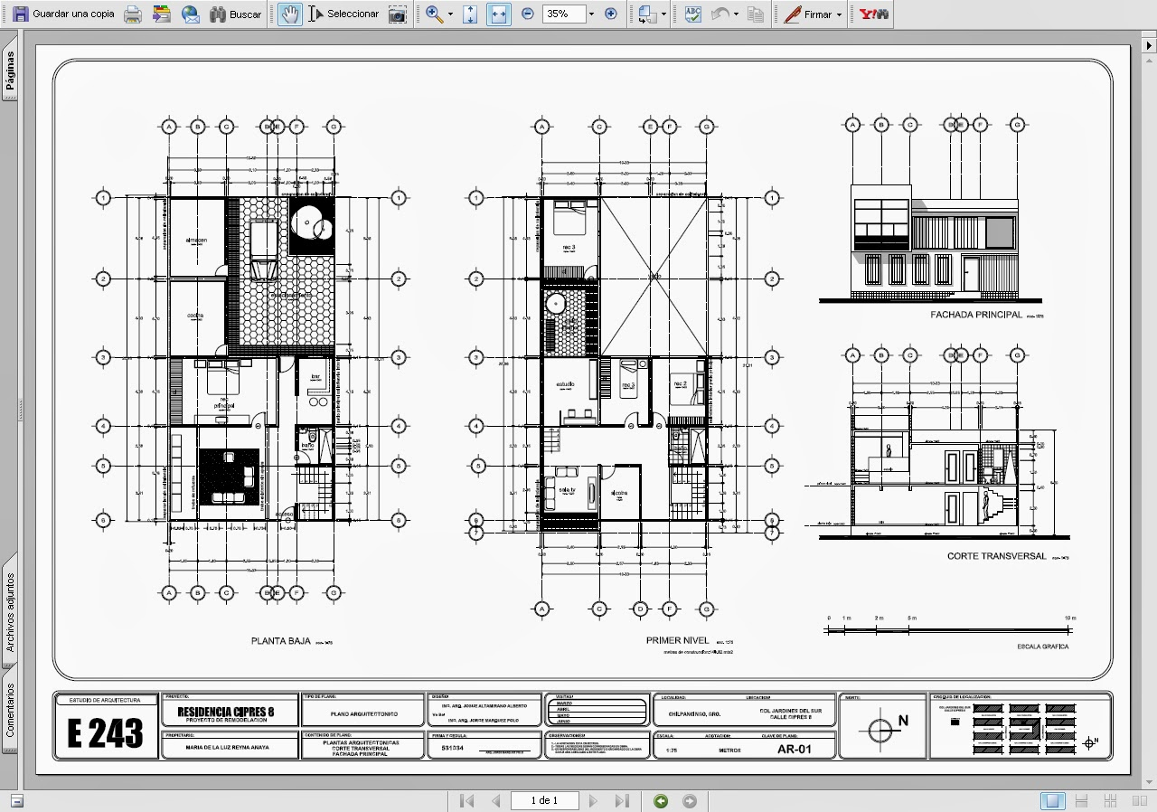Grupos 407 y 408 for Pie de plano arquitectonico pdf
