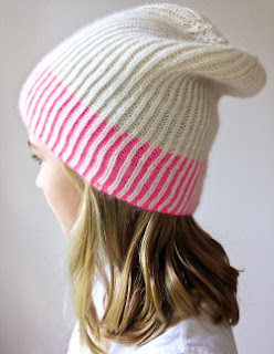 Color Dipped Hat Knitting Pattern