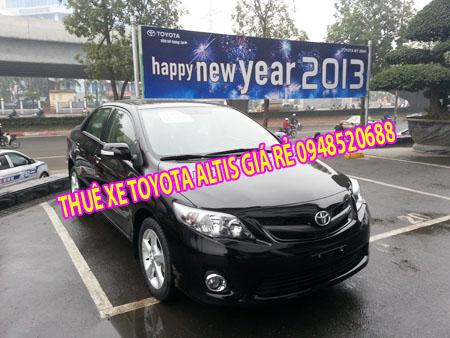 cho thuê xe altis 2013 có lái