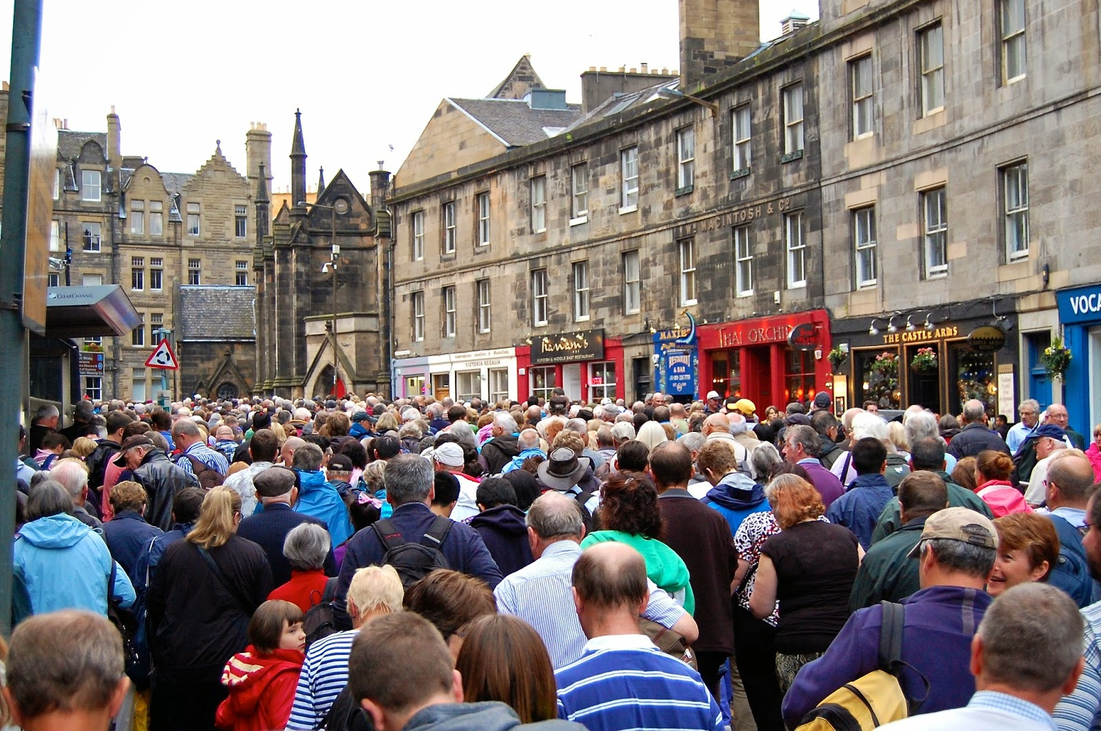 Queue for Royal Edinburgh Military Tattoo