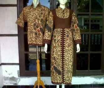 Baju Gamis Batik Seragam Pasangan Keluarga Baju Batik