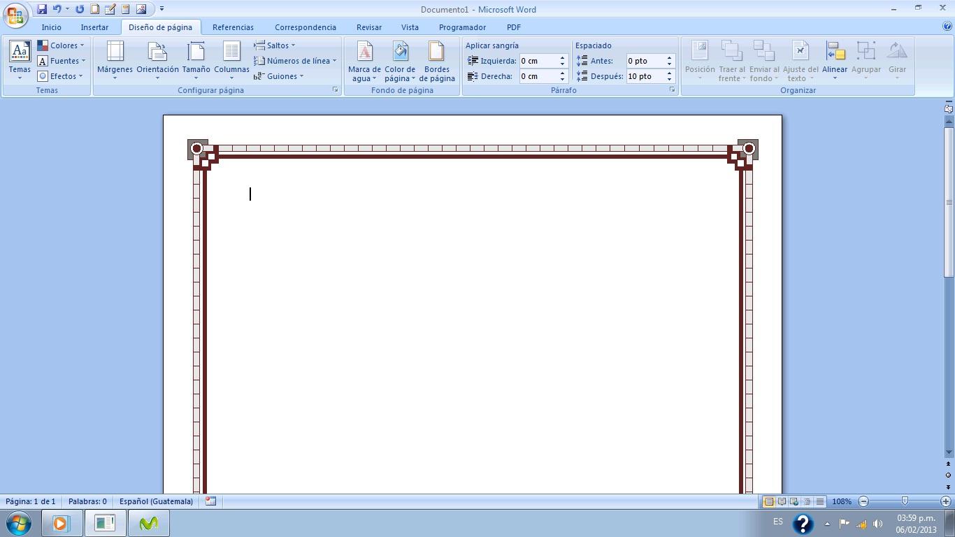 Como Colocar Estilo De Margen a La Hoja en Microsoft Word