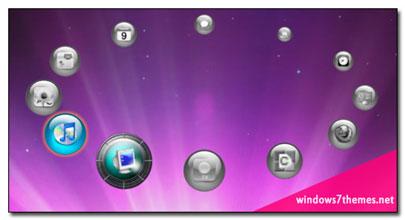 SliderDock phần mềm làm đẹp desktop với vòng tròn icon