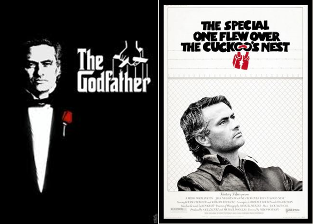 The Godfather, The Special One Flew Over The Cuckoos Nest, Jose Mourinho, film poster, funny movie poster, football, Chelsea,