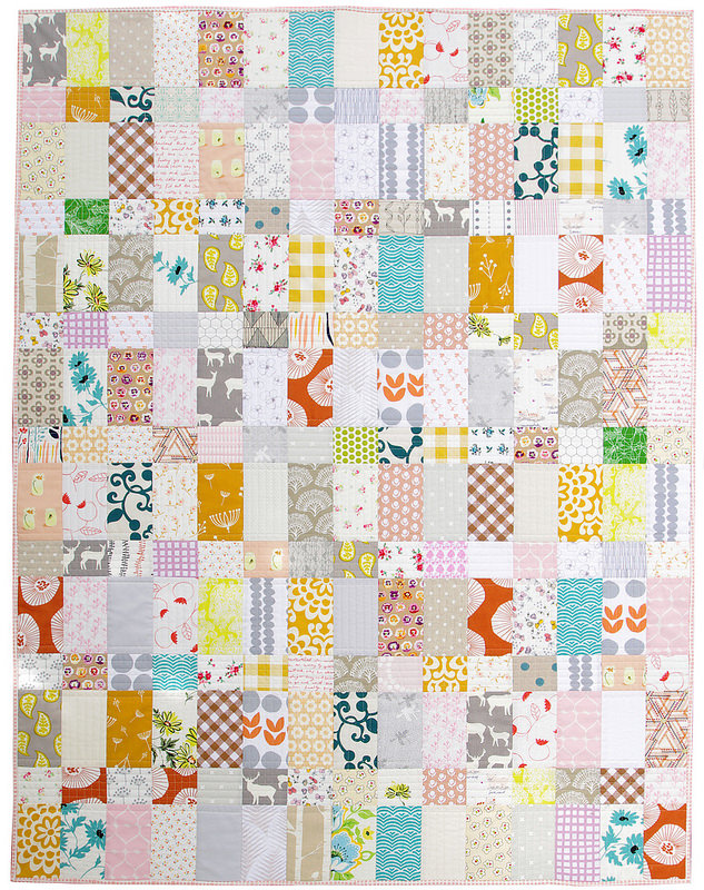 Strips and Bricks - Custom Order Baby Quilt | Red Pepper Quilts