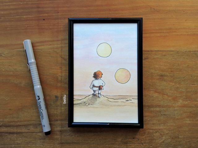 Tatooine sunset by betitu