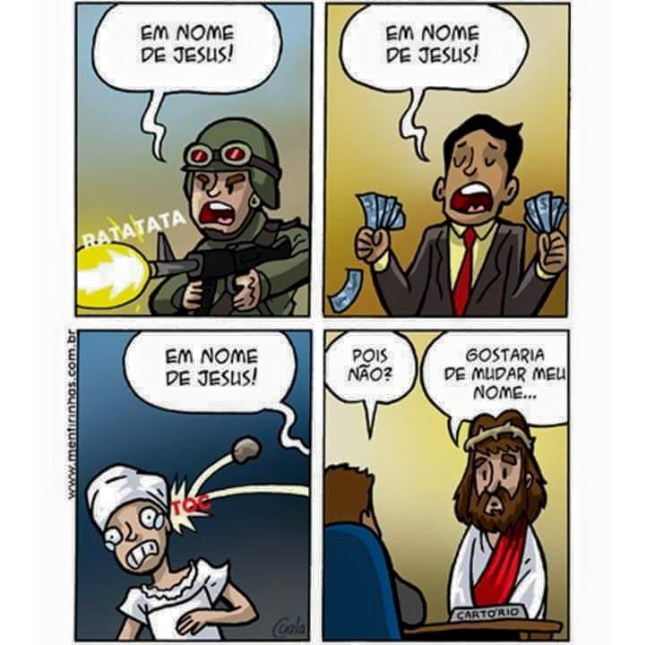Em nome de JESUS