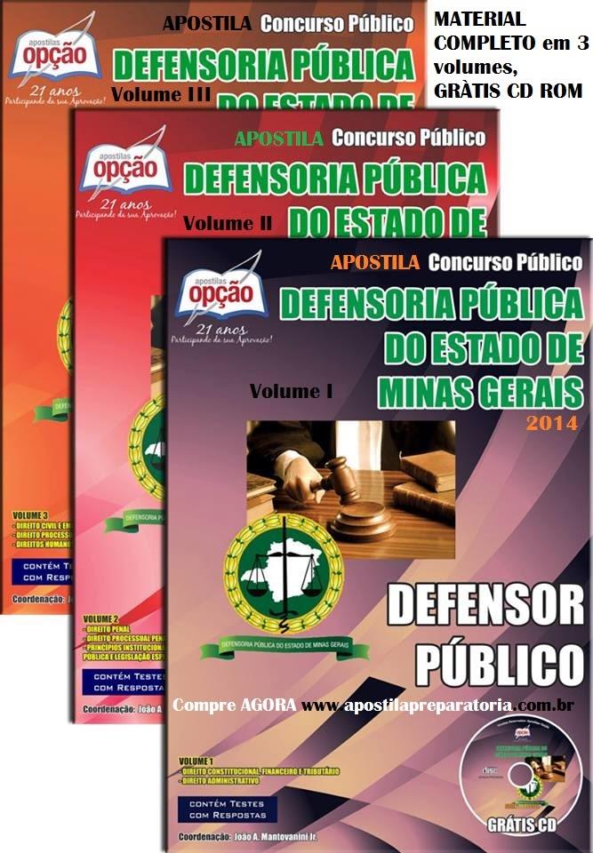 Apostila Defensoria Pública do MG - Defensor Público DPE/MG 2014