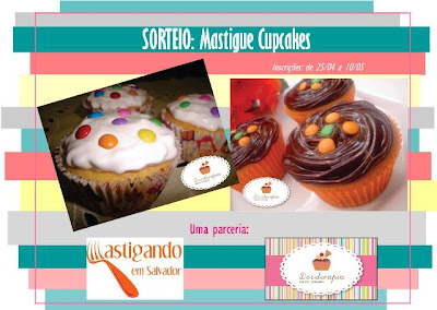 Banner do Sorteio: Mastigue Cupcakes!