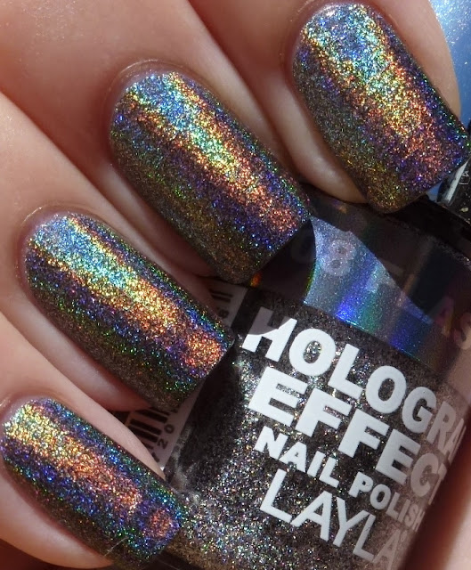 Flash Black, Layla Hologram Effect, swatch