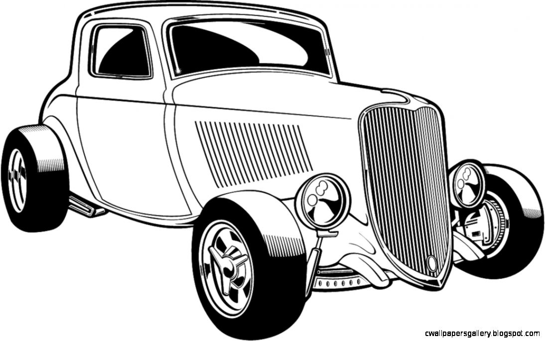 classic car clipart black and white  Vehicle Pictures