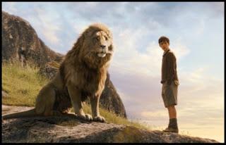 Aslan y Edmund. Las crónicas de Narnia: el león, la bruja y el armario.