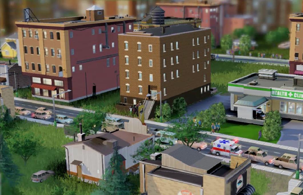 Поликлиника в игре SimCity 5